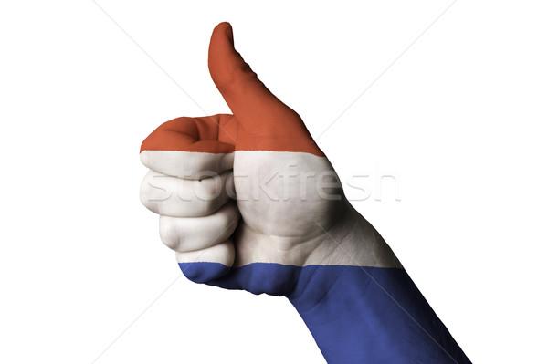Luxemburgo bandera pulgar hasta gesto excelencia Foto stock © vepar5
