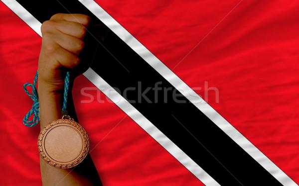 Bronze medal for sport and  national flag of trinidad tobago    Stock photo © vepar5