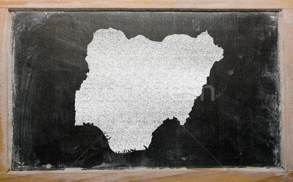 Mapa Nigéria lousa desenho Foto stock © vepar5
