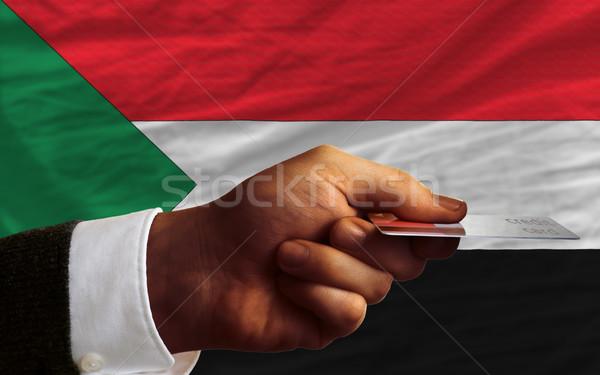 Kopen creditcard Soedan man uit Stockfoto © vepar5