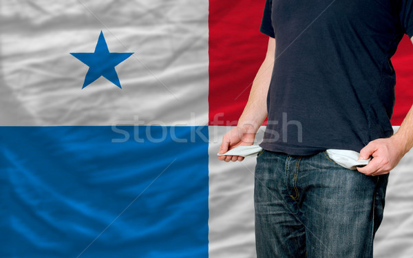 recession impact on young man and society in panama Stock photo © vepar5