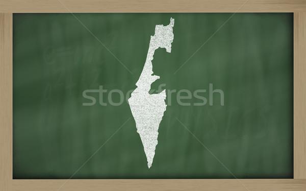 Pokaż Izrael tablicy rysunek Zdjęcia stock © vepar5