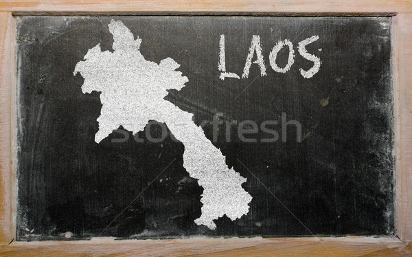 Carte Laos tableau noir dessin Photo stock © vepar5