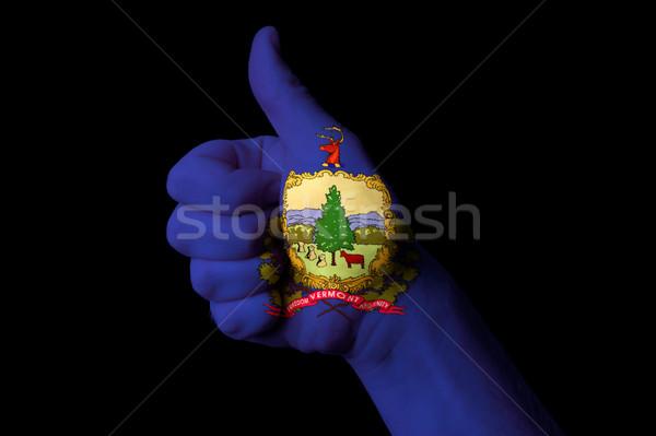 Vermont bandeira polegar para cima gesto excelência Foto stock © vepar5