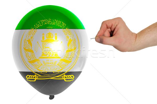 Balon renkli bayrak Afganistan iğne kavram Stok fotoğraf © vepar5