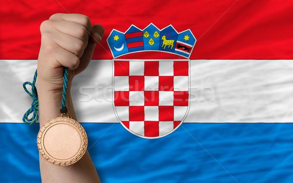 Bronce medalla deporte bandera Croacia Foto stock © vepar5