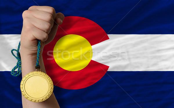 спорт флаг американский Колорадо победителем Сток-фото © vepar5
