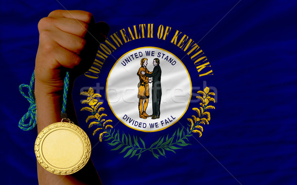 Gold medal for sport and  flag of american state of kentucky    Stock photo © vepar5