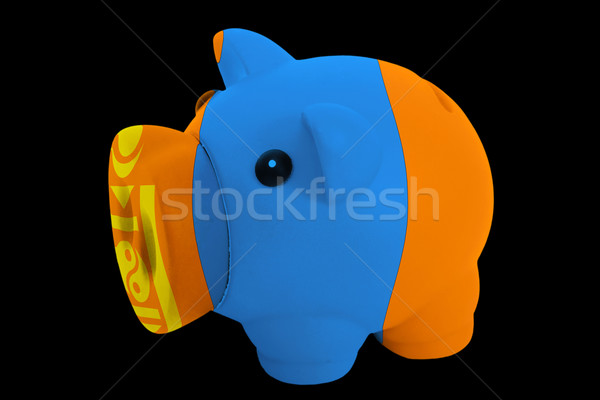 piggy rich bank in colors national flag of mongolia   for saving Stock photo © vepar5