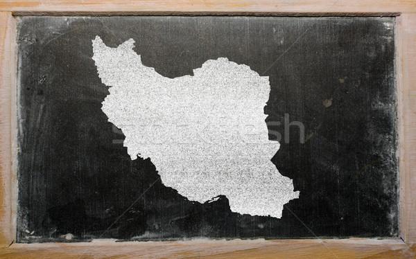 Skicc térkép Irán iskolatábla rajz rajzolt Stock fotó © vepar5
