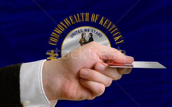 Compra cartão de crédito Kentucky homem fora Foto stock © vepar5