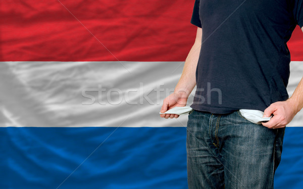 Recessie jonge man samenleving holland arme man Stockfoto © vepar5