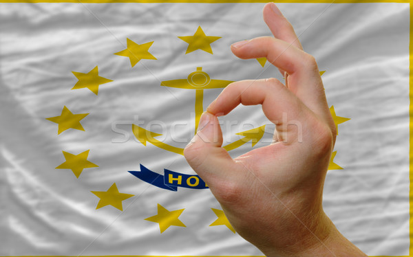 ok gesture in front of rhode island us state flag Stock photo © vepar5