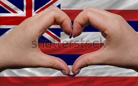 Szív szeretet kézmozdulat kezek zászló Panama Stock fotó © vepar5