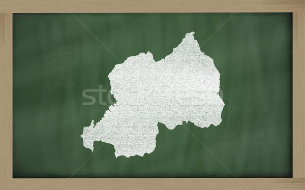 Mapa Ruanda pizarra dibujo Foto stock © vepar5