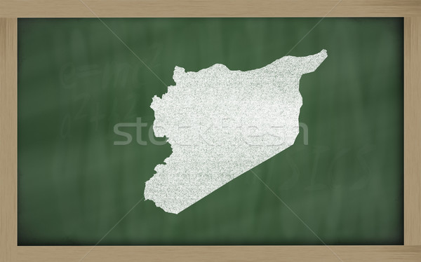 Schets kaart Syrië Blackboard tekening Stockfoto © vepar5