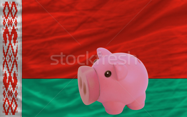 piggy rich bank and  national flag of belarus    Stock photo © vepar5