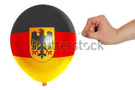 germany national flag thumbs down gesture for failure made with  Stock photo © vepar5