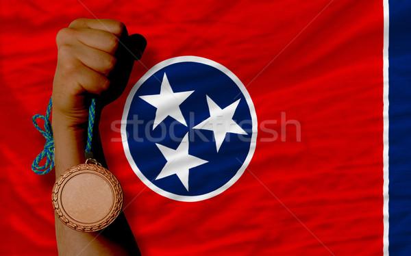 Brąz medal sportu banderą amerykański Tennessee Zdjęcia stock © vepar5