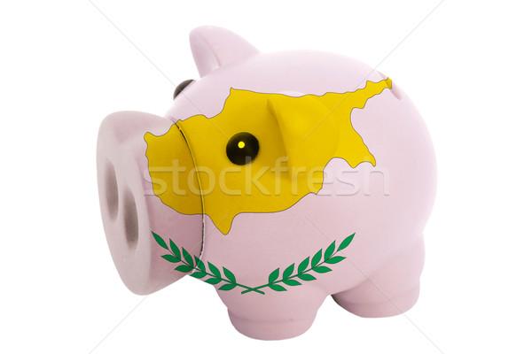 богатых банка цветами флаг Кипр Сток-фото © vepar5