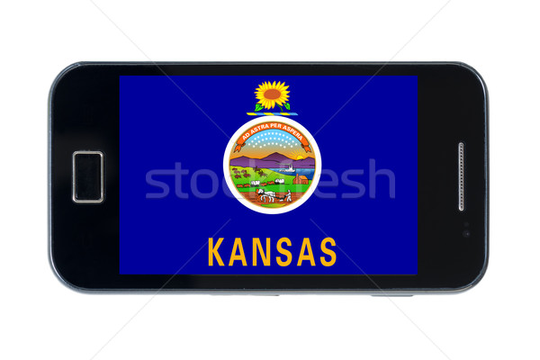 smartphone flag of american state of kansas    Stock photo © vepar5