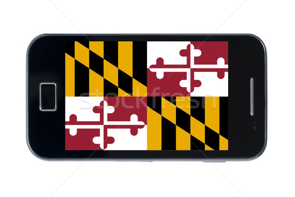 smartphone flag of american state of maryland    Stock photo © vepar5