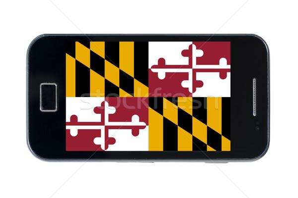 Smartphone bandiera americano Maryland telefono telefono Foto d'archivio © vepar5