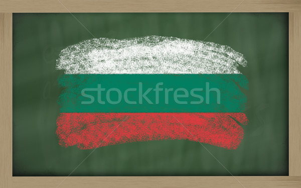national flag of bulgaria on blackboard painted with chalk Stock photo © vepar5