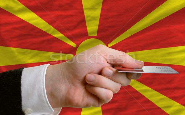 buying with credit card in macedonia Stock photo © vepar5