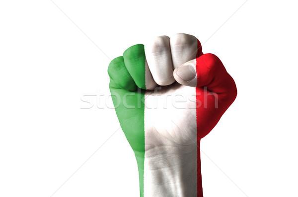Punho pintado cores Itália bandeira baixo Foto stock © vepar5