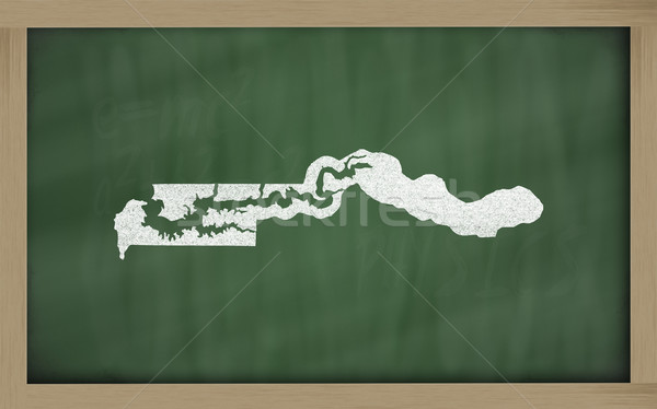 outline map of gambia on blackboard  Stock photo © vepar5
