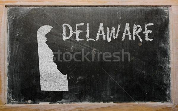 Mapa Delaware lousa desenho americano Foto stock © vepar5