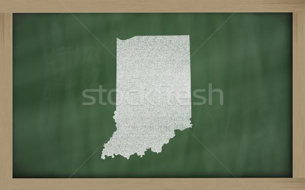 Skicc térkép Indiana iskolatábla rajz tábla Stock fotó © vepar5