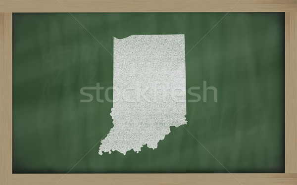 Schets kaart Indiana Blackboard tekening schoolbord Stockfoto © vepar5