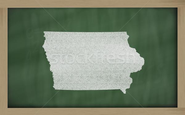 Skicc térkép Iowa iskolatábla rajz tábla Stock fotó © vepar5