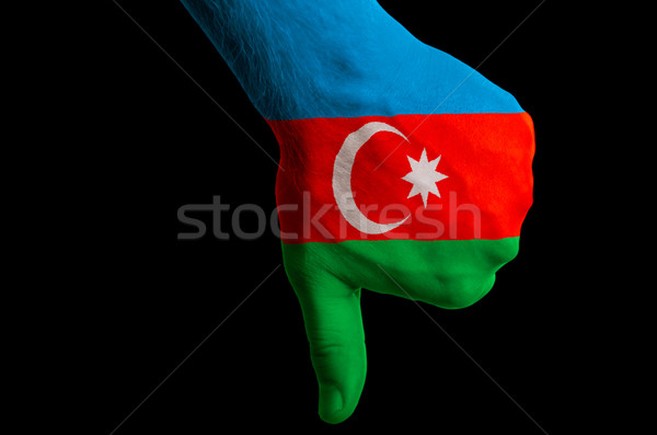 azerbaijan national flag thumb down gesture for failure made wit Stock photo © vepar5