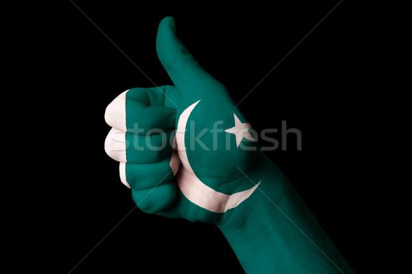 パキスタン フラグ 親指 アップ ジェスチャー 卓越 ストックフォト © vepar5