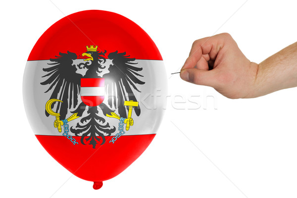 Bursting balloon colored in  national flag of austria    Stock photo © vepar5