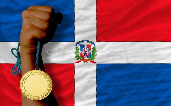 金メダル スポーツ フラグ 勝者 金 ストックフォト © vepar5