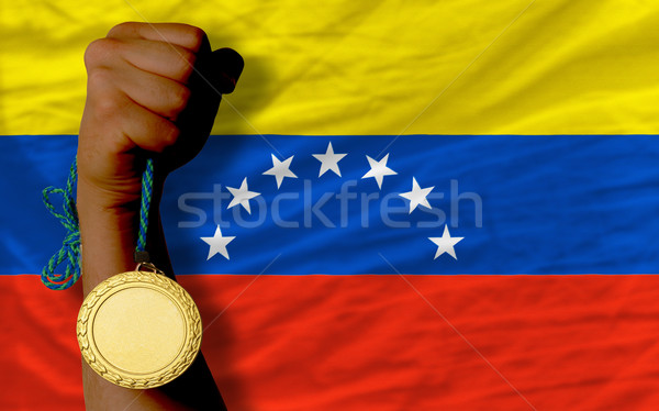 Medalla de oro deporte bandera americano Vermont ganador Foto stock © vepar5