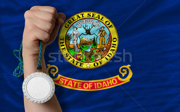 Silver medal for sport and  flag of american state of idaho    Stock photo © vepar5