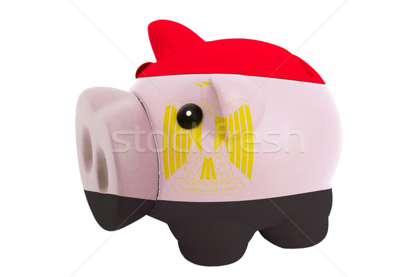 piggy rich bank in colors  national flag of egypt    for saving  Stock photo © vepar5