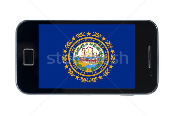 Smartphone bandiera americano New Hampshire telefono telefono Foto d'archivio © vepar5