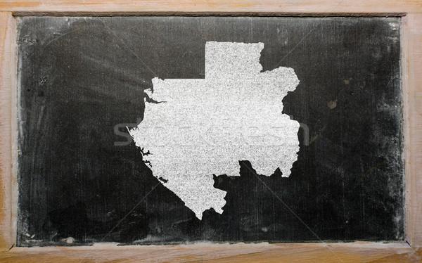 карта Габон доске рисунок Сток-фото © vepar5