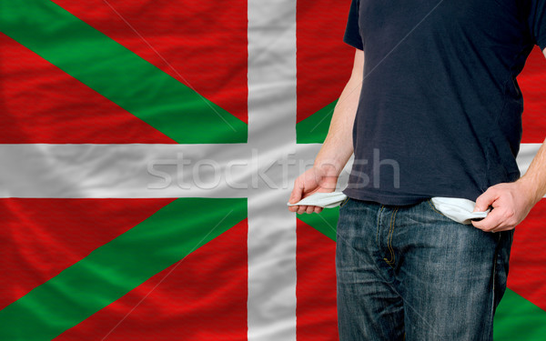 recession impact on young man and society in basque Stock photo © vepar5