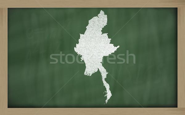 地図 ミャンマー 黒板 図面 ストックフォト © vepar5