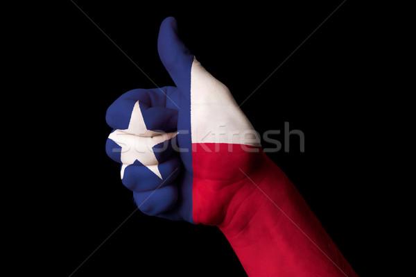 Teksas bayrak başparmak yukarı jest mükemmellik Stok fotoğraf © vepar5