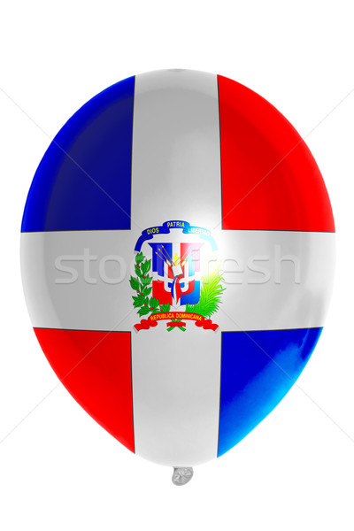 Balloon colored in  national flag of dominican    Stock photo © vepar5