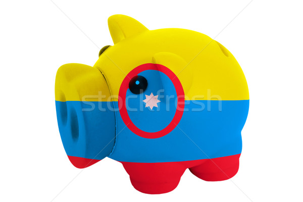 piggy rich bank in colors  national flag of columbia    for savi Stock photo © vepar5