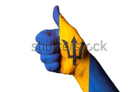 Svezia bandiera pollice up gesto eccellenza Foto d'archivio © vepar5